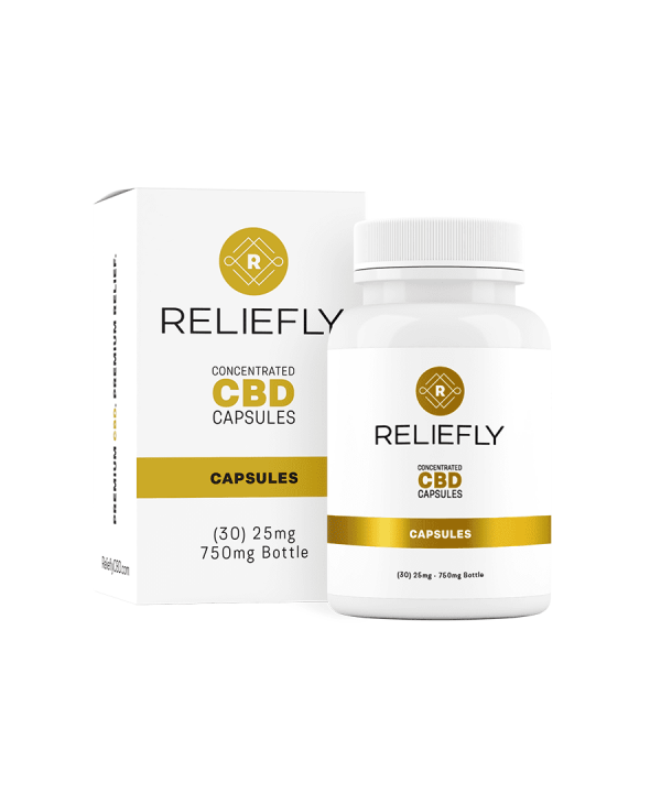 CBD Full Spectrum Gel Capsules 25mg Per Capsule 750mg Per Bottle
