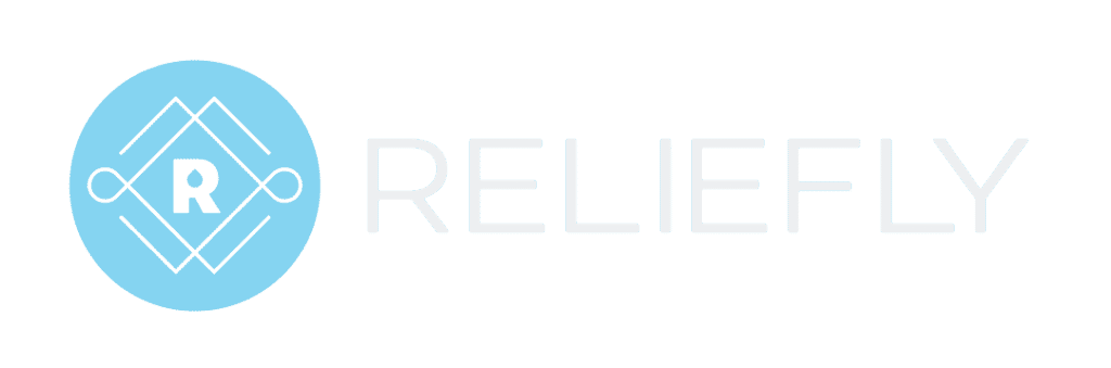 Reliefly Primary logo Blue